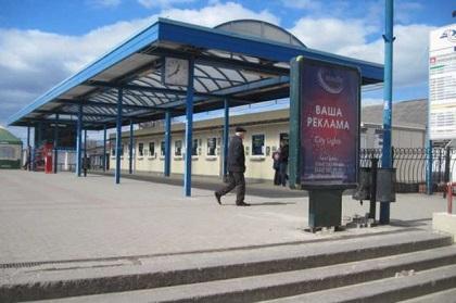 Реклама на железнодорожной станции